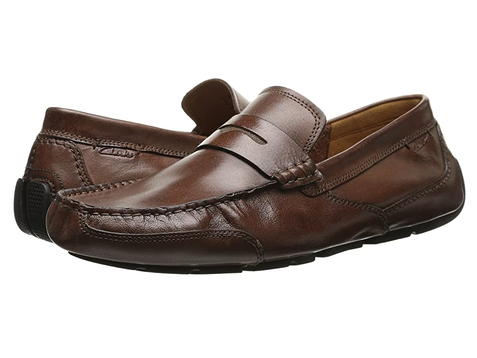 Clarks Ashmont Way (Cognac Smooth Leather) Men