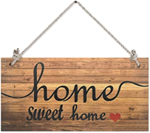 NN/AA Home Sweet Home Rustic Wood Wall Sign,Wood Signs for Home Decor Quotes,8