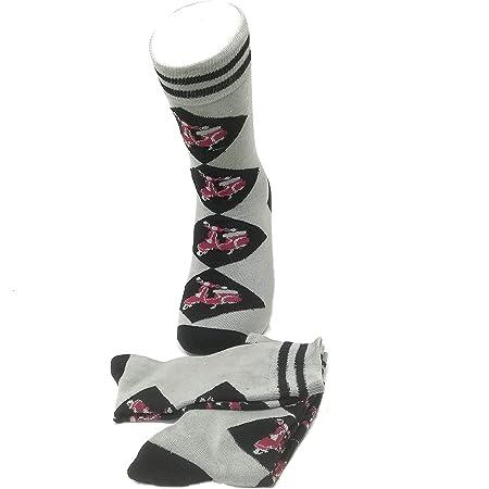 Pack of 2 Pairs Mens Argyle Red Vespa Socks mens shoe size 6-10 uk, Multicoloured, Fits Mens Shoe Size 6-10 UK