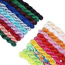 PH PandaHall 20 Colors 1mm Chinese Knotting Cord Nylon Shamballa Macrame Thread Cord Beading String for Bracelet Making(About 400m/ 430yards)