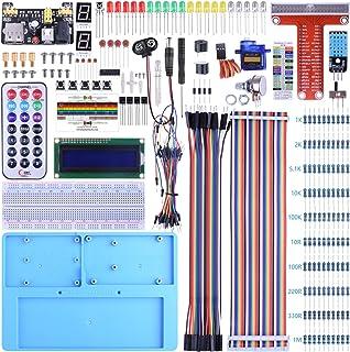 BONROB Raspberry Pi Starter Learning Kit with GPIO Expansion Board LCD RGB, Breadboard Infrared Remote Control For Raspberry Pi 3B +, 3B, 2B a + Zero BS002