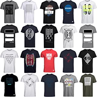JACK & JONES Men's T-Shirt 3 / 6 / 9 Mix Crew Neck Tee Regular Fit Cotton S M L XL XXL