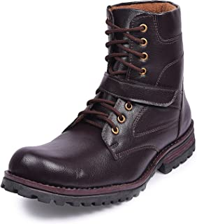 Andrew Scott Men's Synthetic Leather High Ankle Boots