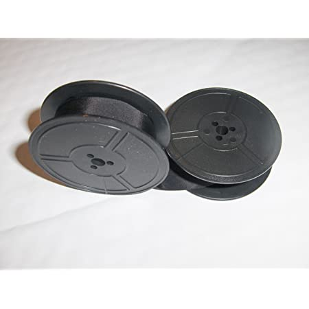 Solid Black + Corona Silent Typewriter Ribbon 2 Pack - Black and Red 1 1
