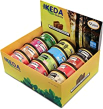 Ikeda GRASSE Scents Car Air Freshener, 12 Different Smell Cans, Solid Natural Aromatherapy Diffuser Air Purifier (Small Can,1.5 oz x 12 Count)