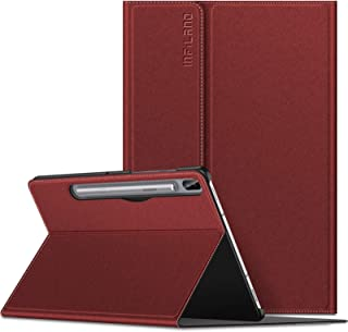 Infiland Galaxy Tab S6 10.5 Case, Multiple Angle Stand Case Fit Samsung Galaxy Tab S6 10.5 Inch Model SM-T860/T865/T867 2019 Release, Support S Pen Wireless Charging, Auto Wake/Sleep, Dark Red
