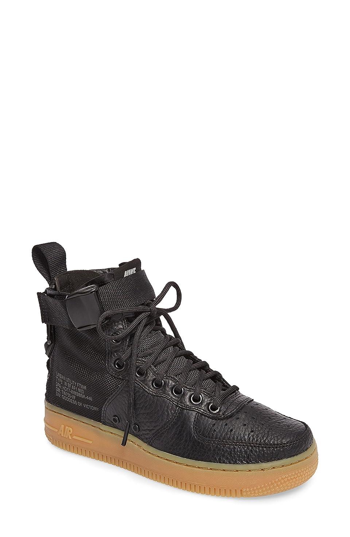 放送アーサーコナンドイル船外ナイキ シューズ スニーカー Nike SF Air Force 1 Mid Sneaker (Women) Black/ Bla [並行輸入品]