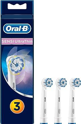 Oral-B Sensi UltraThin in Confezione da 3 Testine di Ricambio per Spazzolino Elettrico Ricaricabile, per una Pulizia Accurata e per La Protezione delle Gengive