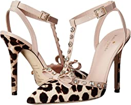 Blush/Brown Leopard Haircalf Print/Pale Pink Nappa