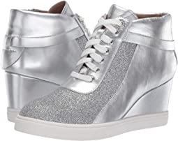 Sliver Metallic Nappa/Glisten Leather