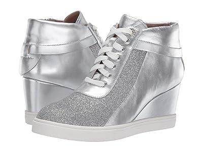 LINEA Paolo Freja Wedge Sneaker (Sliver Metallic Nappa/Glisten Leather) Women