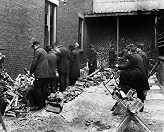 Boston Woodcutters C1900 Nmen Sawing And Chopping Wood On Chardon Street In Boston Massachusetts Photographed By Charles H...