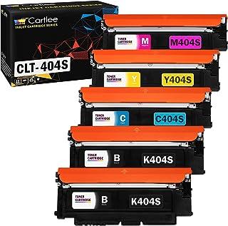 Cartlee 5 Compatible Toner Cartridges Replacement for Samsung CLT-K404S CLT-C404S CLT-M404S CLT-Y404S (2 Black, 1 Each Col...