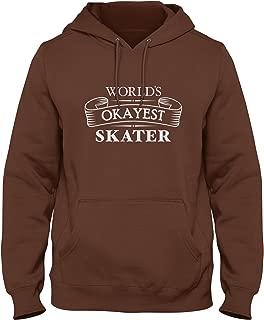 ShirtLoco Men's Worlds Okayest Skater Hoodie Sweatshirt
