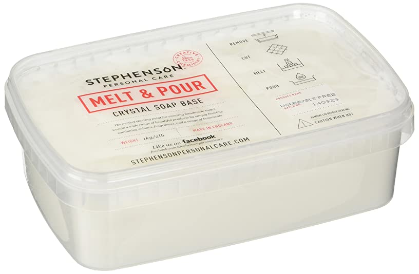 Stephenson Natural SLS Free Melt & Pour Soap Base, 2 lb
