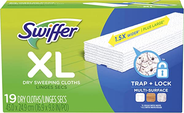 Swiffer Sweeper Dry Sweeping Pad Multi Surface Refills For X Large Dusters Floor Mop Unscented 19 Count Packaging May Vary