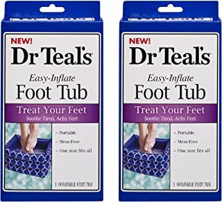 Dr. Teal's Inflatable Foot Tub(Pack of 2)