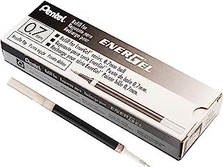 Pentel Refill Ink for EnerGel Liquid Gel Pen, (0.7mm), Needle Tip, Black Ink, Box of 12 (LRN7-A)