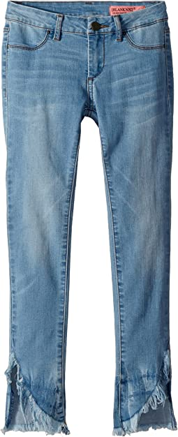 Denim Skinny with Raw Edge Detail in Sun Bleached (Big Kids)