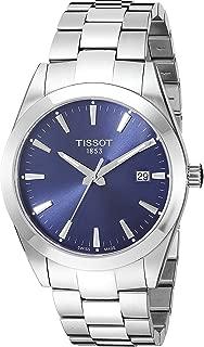 Mens Gentleman Swiss Quartz Stainless Steel Dress Watch (Model: T1274101104100)