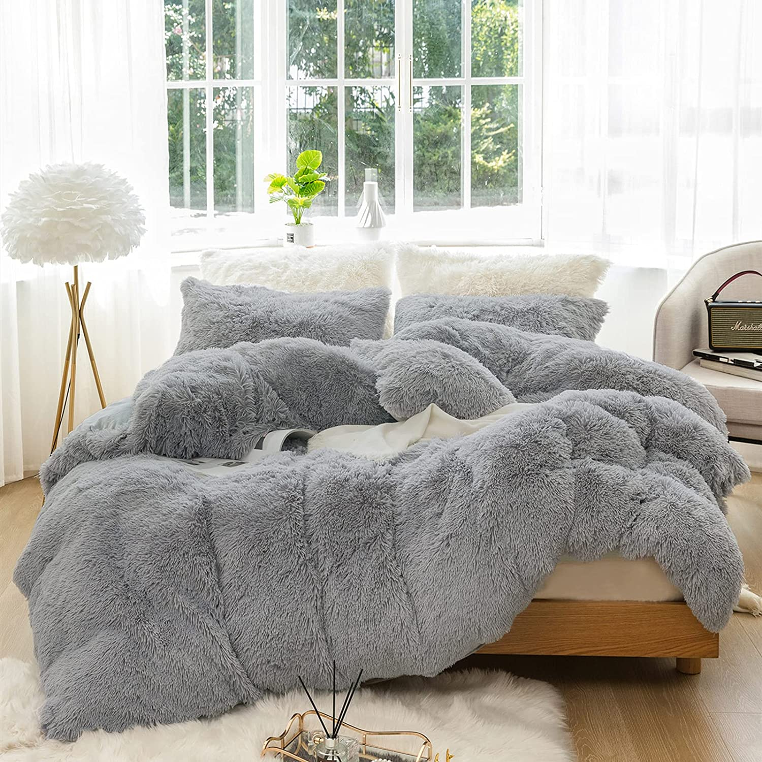 JOYPOINT 3 PC Outstanding Plush Shaggy Duvet Luxury Set Max 79% OFF Ultra Cry Soft Cover