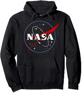 NASA Outline Black And White Sweat à Capuche