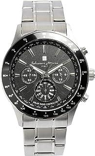 [サルバトーレマーラ]腕時計 ウォッチ 電波ソーラー クロノグラフ 曜日表示 シルバー メンズ