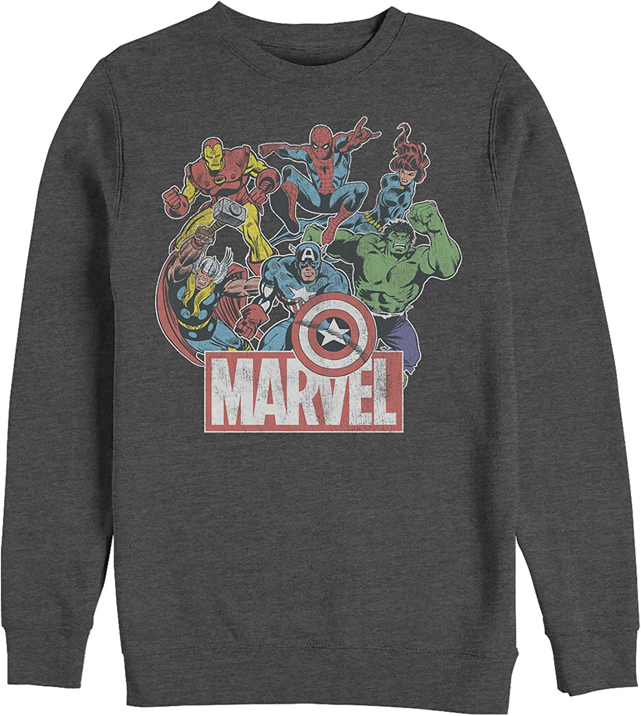Free Shipping Max 81% OFF Cheap Bargain Gift Marvel Men's Classic Sweatshirt Hero Collage