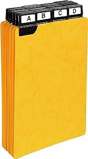 13748E Exacompta Paquet de 24 guides alphabétiques en carte lustée 425g à onglets métalliques 25 mm noires , pour boites à...