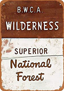 Joycenie Tin Sign New Aluminum Metal Sign BWCA Wilderness Superior National Forest 8x12 Inch