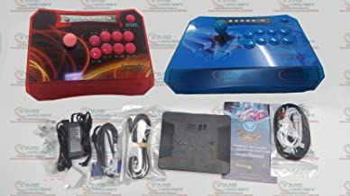 New Arrival Pandora Box 5 Wireless Arcade Game Rocker 960 Games Joystick set with 4 core CPU, 8 ways joystick, locking button, Custom Buttons Settings and 720P VGA & HDMI Output (Red + Blue)