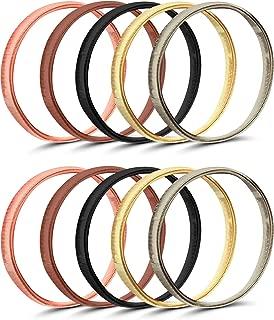 5 Pairs Shirt Sleeve Holders Anti-slip Arm Sleeve Garters Metal Stretch Elastic Metal Armbands