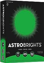 Wausau Astrobrights Heavy Duty Paper, 24 lb, 8.5 x 11 Inch, Gamma Green, 500 Sheets (21548)