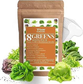 Sponsored Ad - Heirloom Lettuce & Leafy Greens Seeds - Romaine, Kale, Spinach, Butterhead, Oak, Arugula, Collard Greens   ...