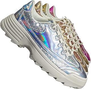 Retro Daddy Fashion Sneaker - Womens 90s 80s Flatform Party Shoe