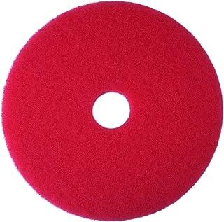 3M Red Buffer Pad 5100, Floor Buffer, Machine Use (Case of 5)
