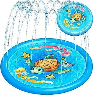 "Splash Pad Water Sprinkler for Kids Toddlers 68"" Large, Outdoor Summer Toys Kiddie Baby Swimming Pool - Fun Backyard Lawn ..."