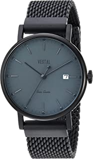 Vestal Unisex SP36M05.MBKM Sophisticate 36 Metal Analog Display Swiss Quartz Black Watch