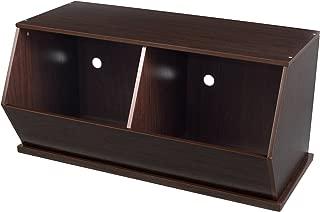 KidKraft Wooden Double Storage Unit - Espresso - Children's Storage Furniture