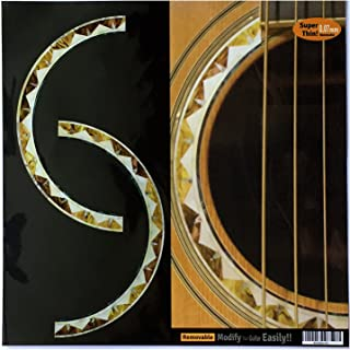 Inlay Sticker Decal Acoustic Guitar Purflinng Sound hole In Abalone Theme - Rosette (Santafe)