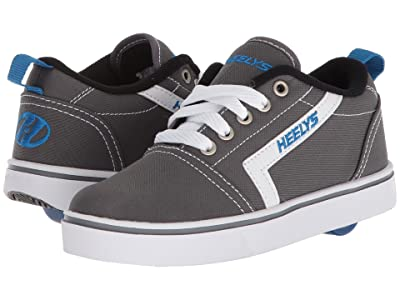 Heelys GR8 Pro (Little Kid/Big Kid/Adult) (Grey/White/Royal) Boys Shoes