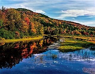 View of small lake north of Saranac Lake Adirondack Mountains New York State USA Poster Print by Panoramic Images (14 x 11)