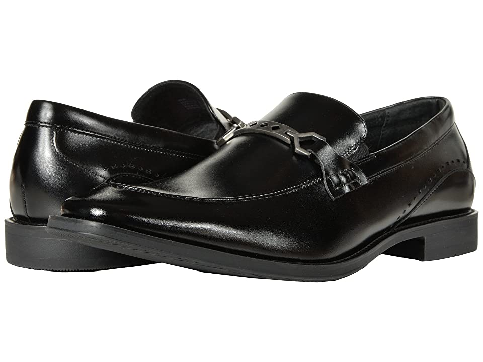 Stacy Adams Lindford Moc Toe Penny Loafer (Black) Men