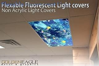 Reef Skylight - 2ft x 4ft Drop Ceiling Fluorescent Decorative Ceiling Light Cover Skylight Film