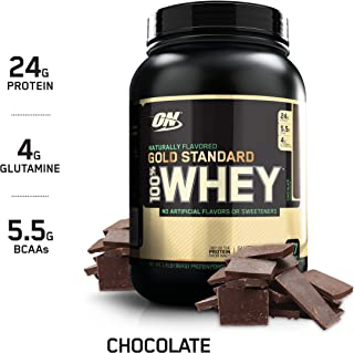 OPTIMUM NUTRITION GOLD STANDARD 100% Whey Protein Powder, Naturally Flavored Chocolate, 1.9 Pound