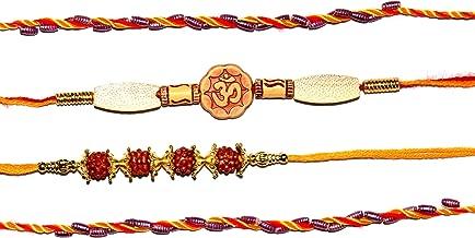 Set of 4 Assorted Rakhi for Brother Designer Indian Fancy Rakhi Rakhee Thread Bracelet for Raksha-Bandhan Rakshabandhan Bhaiya Kids