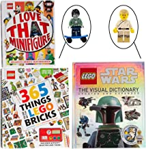 LEGO Books with Minifigures (3 Pack) for Kids Adult Star Wars Book Activity Book History Book Star Wars Star Wars Toys