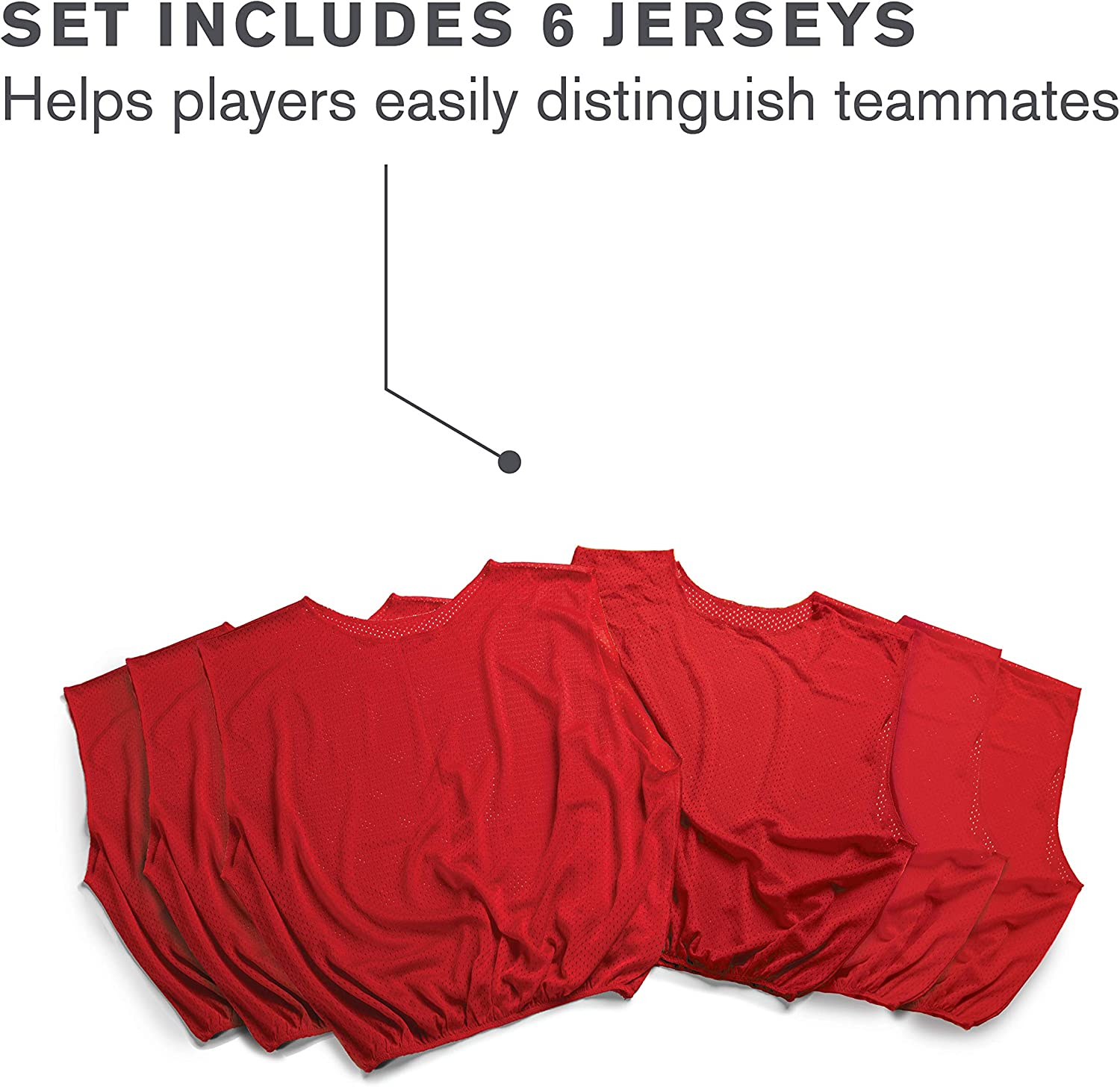 Pack of 6 SKLZ Sports Mesh Practice Jersey