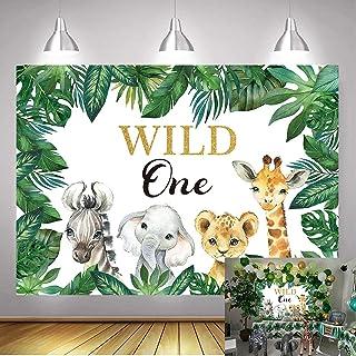 DANIU Safari Wild One Bakgrund Safari Djur Första Födelsedag Fest Bakgrund Vinyl Djungel Pojke 1:a Födelsedagen Party Deko...