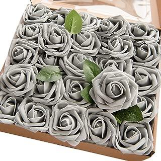 Best dark grey artificial flowers Reviews